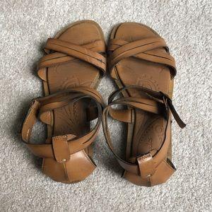 Clark's brown sandals